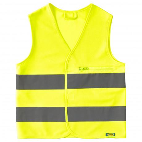 Светоотражающий жилет БЕСКЮДДА XS, желтый фото 3
