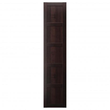 Дверца с петлями БЕРГСБУ черно-коричневый фото 3