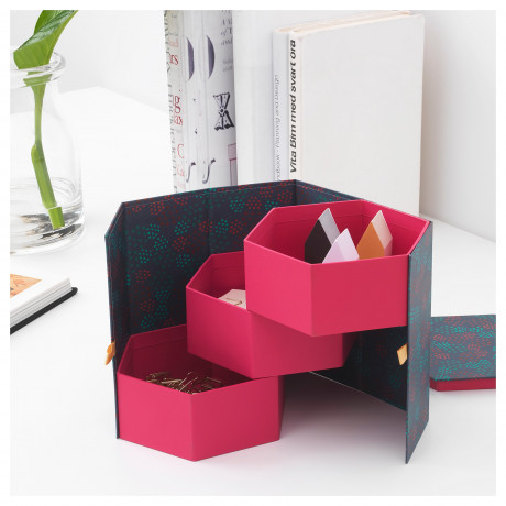 Декоративная коробка АНИЛИНАРЕ красный, зеленый фото 5