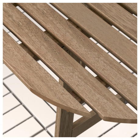 Стол+2 складных стула, д/сада АСКХОЛЬМЕН серый/коричневый, Иттерон синий фото 6
