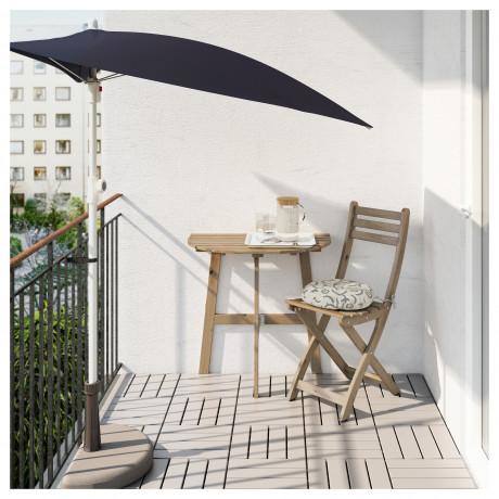 Стол+1 складной стул, д/сада АСКХОЛЬМЕН серо-коричневый, Иттерон синий фото 5