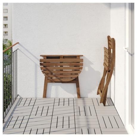 Стол+1 складной стул, д/сада АСКХОЛЬМЕН серо-коричневый, Иттерон синий фото 6