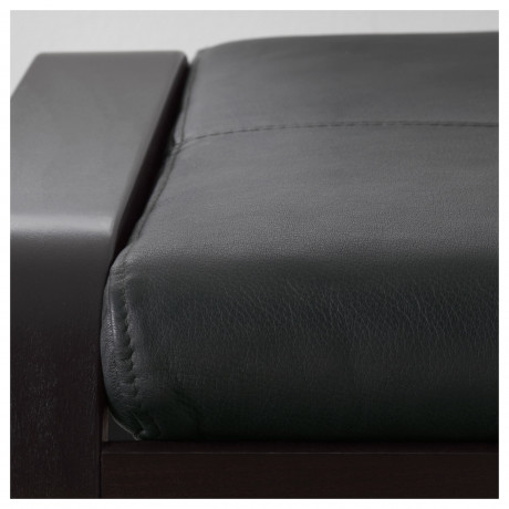 Табурет для ног ПОЭНГ черно-коричневый, Глосе светло-бежевый фото 6