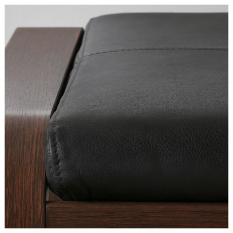 Табурет для ног ПОЭНГ коричневый, Глосе светло-бежевый фото 6