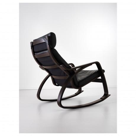 Кресло-качалка ПОЭНГ черно-коричневый, Глосе темно-коричневый фото 6