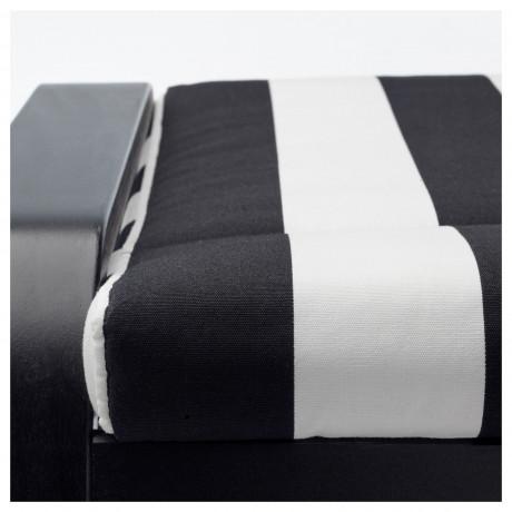 Табурет для ног ПОЭНГ черно-коричневый, Кимстад бежевый фото 5