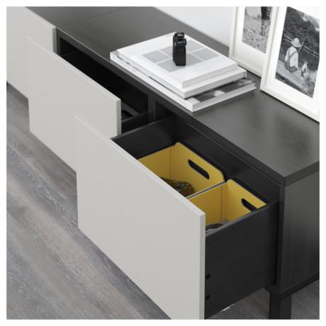 Комбинация для хранения с ящиками БЕСТО черно-коричневый, Грундсвикен темно-серый фото 6