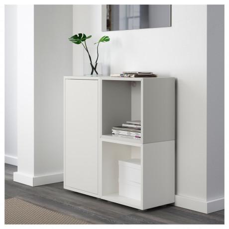 Комбинация шкафов с ножками ЭКЕТ белый/оранжевый, светло-серый фото 5