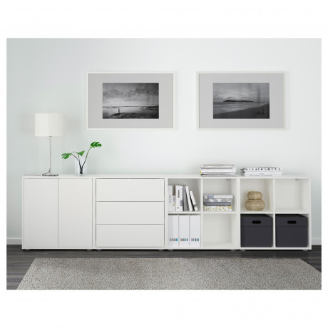 Комбинация шкафов с ножками ЭКЕТ белый/светло-серый, темно-серый фото 5