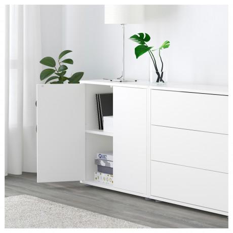 Комбинация шкафов с ножками ЭКЕТ белый/светло-серый, темно-серый фото 6