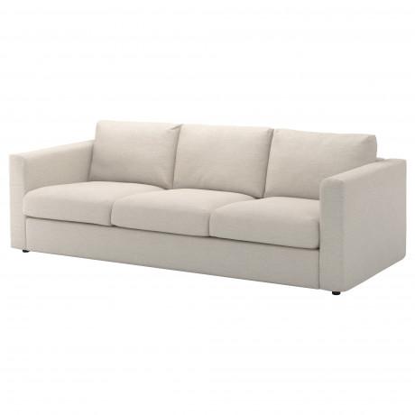 Чехол на 3-местный диван ВИМЛЕ Гуннаред классический серый фото 5