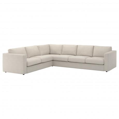 Чехол д/углового 5-местного дивана ВИМЛЕ Гуннаред классический серый фото 5