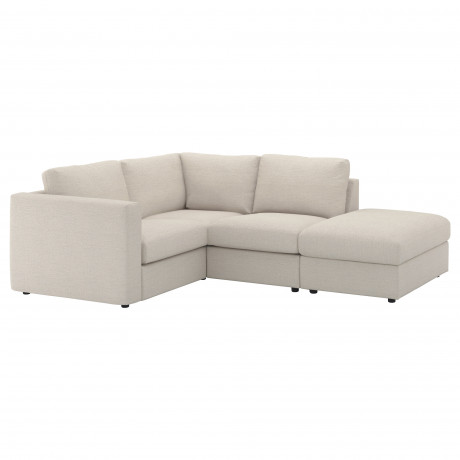 Чехол д/углового 3-местного дивана ВИМЛЕ с открытым торцом, Гуннаред классический серый фото 5