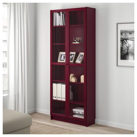 Шкаф книжный со стеклянными дверьми БИЛЛИ бежевый фото 5
