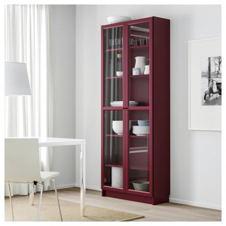 Шкаф книжный со стеклянными дверьми БИЛЛИ бежевый фото 6