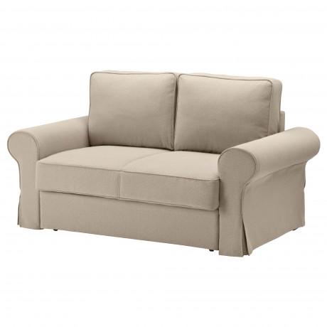 Чехол на 2-местный диван-кровать БАККАБРУ Хильте белый фото 5