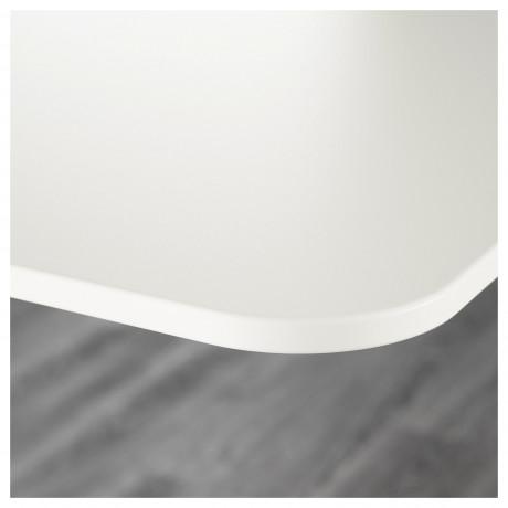 Углов письм стол прав/трансф БЕКАНТ белый, черный фото 6