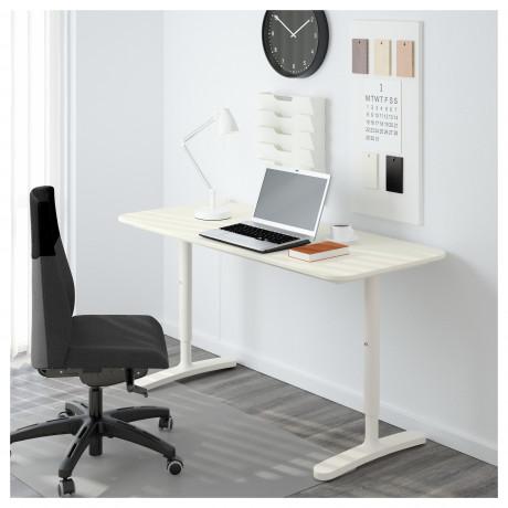 Письменный стол БЕКАНТ белый, черный фото 5