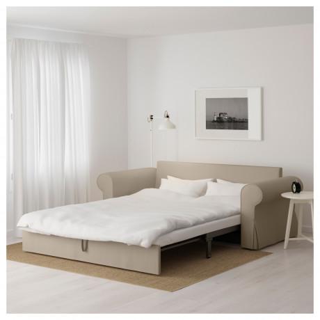 Диван-кровать 3-местный БАККАБРУ Тигельшо бежевый фото 6