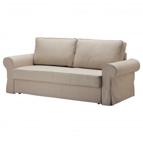 Чехол на 3-местный диван-кровать БАККАБРУ Хильте белый фото 5