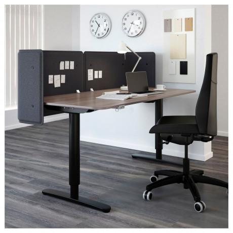 Экран д/письменного стола БЕКАНТ серый фото 5