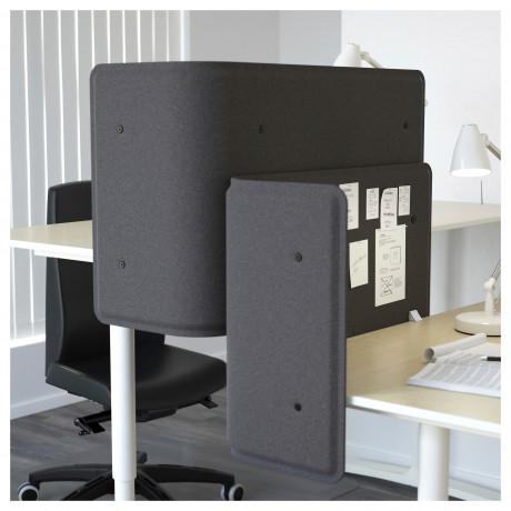 Экран д/письменного стола БЕКАНТ серый фото 6