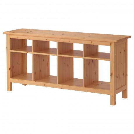 Консольный стол ХЕМНЭС белая морилка фото 4