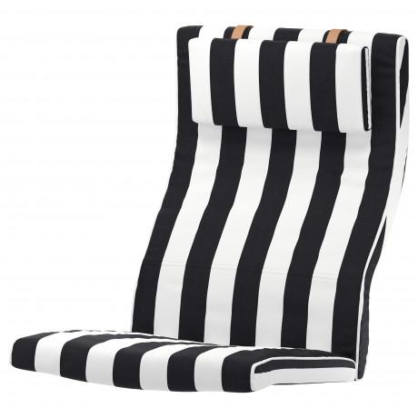 Подушка-сиденье на кресло ПОЭНГ Висланда черный/белый фото 4