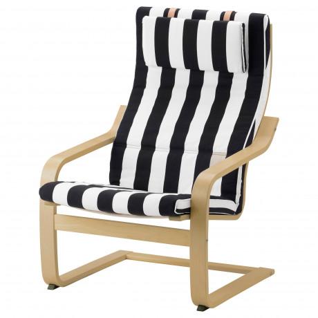 Подушка-сиденье на кресло ПОЭНГ Висланда черный/белый фото 5