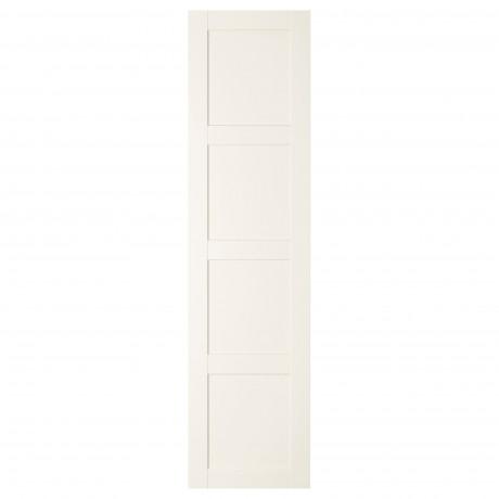 Дверца с петлями БЕРГСБУ белый фото 4