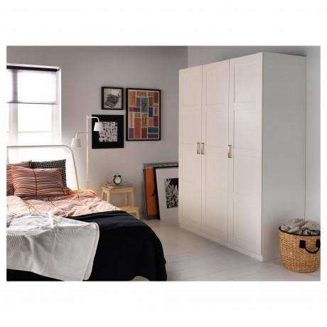 Дверца с петлями БЕРГСБУ белый фото 5