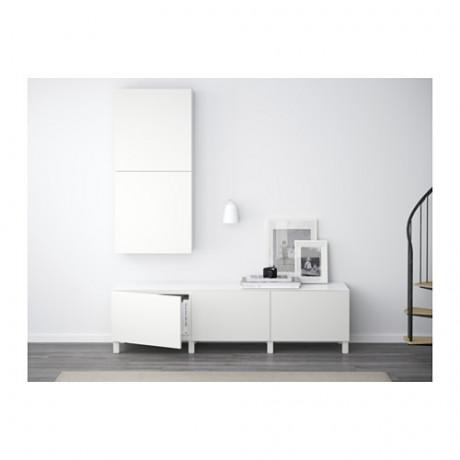 Комбинация для хранения с ящиками БЕСТО белый, Лаппвикен белый фото 5
