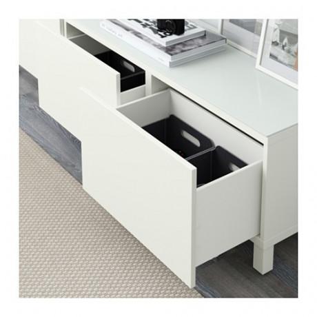 Комбинация для хранения с ящиками БЕСТО белый, Лаппвикен белый фото 7