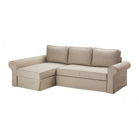 Чехол на диван-кровать с козеткой БАККАБРУ Хильте белый фото 5