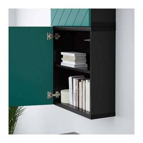 Навесной шкаф с 2 дверями БЕСТО под беленый дуб, вассвикен белый фото 7