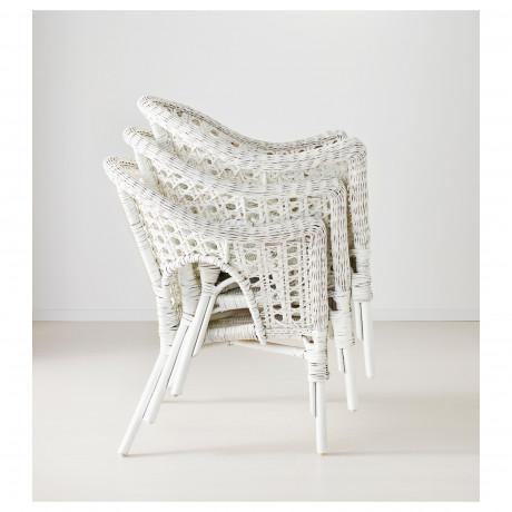 Кресло ФИННТОРП белый фото 5