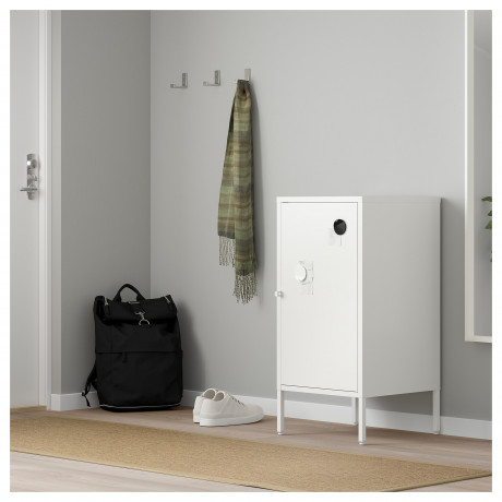 Комбинация для хранения с дверцами ХЭЛЛАН белый фото 3