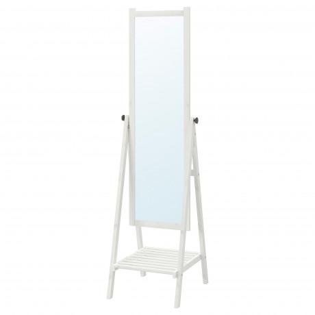 Зеркало напольное ИСФЬЁРДЕН белая морилка фото 3
