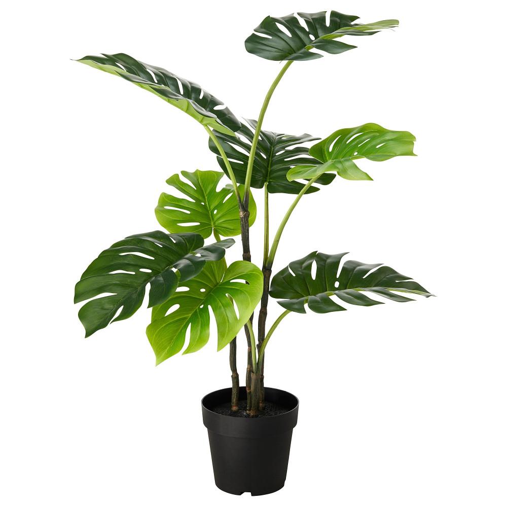 Искусственное растение в горшке ФЕЙКА д/дома/улицы монстера  фото 1
