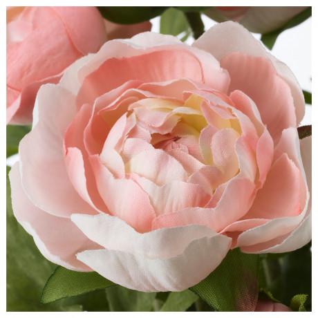 Искусственное растение в горшке ФЕЙКА д/дома/улицы, лютик розовый фото 4