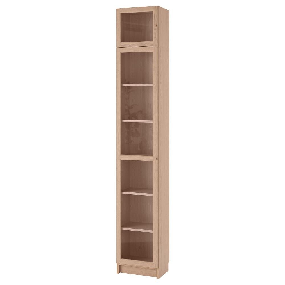 Шкаф книжный со стеклянной дверью  БИЛЛИ / ОКСБЕРГ  фото 1