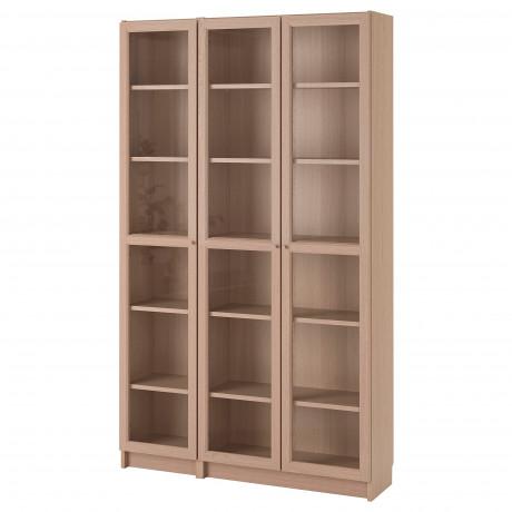 Шкаф книжный со стеклянными дверьми  БИЛЛИ / ОКСБЕРГ фото 3