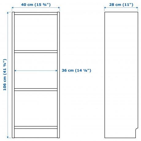 Шкаф книжный со стеклянной дверью  БИЛЛИ / МОРЛИДЕН фото 5