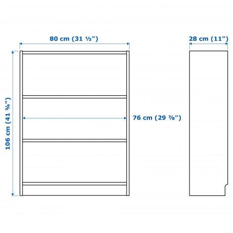 Шкаф книжный со стеклянными дверьми  БИЛЛИ / МОРЛИДЕН фото 6