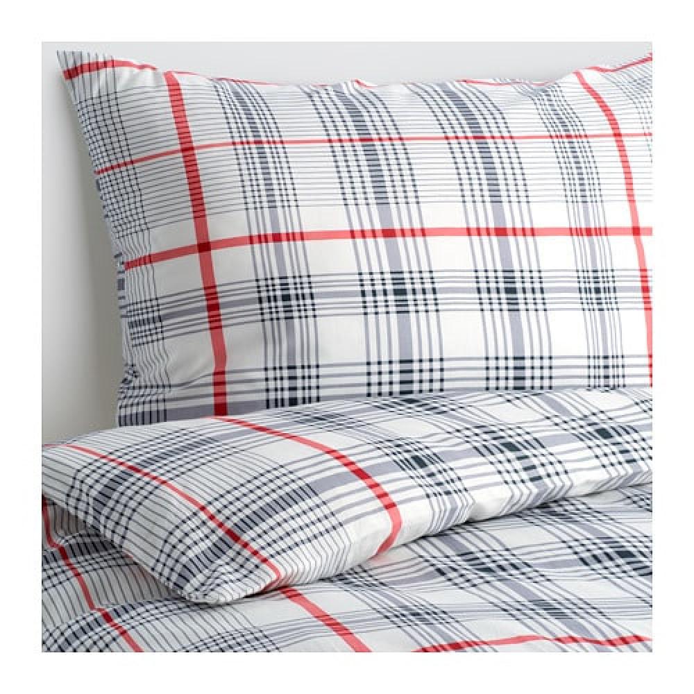 Комплект постельного белья,3 предм. БЕНВЕД серый, белый  фото 1