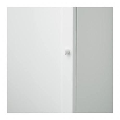 Стеллаж с дверью БИЛЛИ / ОКСБЕРГ белый фото 5