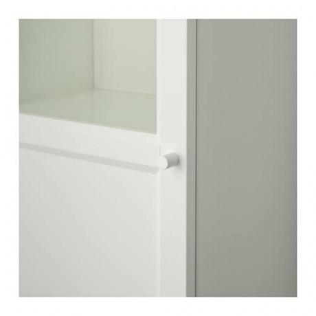 Стеллаж/панельная/стеклянная дверь БИЛЛИ / ОКСБЕРГ белый, стекло фото 5