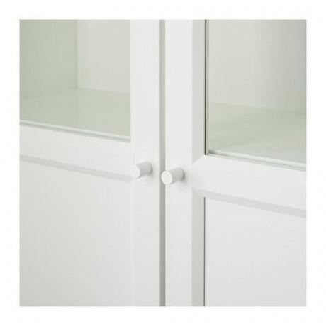 Стеллаж/панельные/стеклянные двери БИЛЛИ / ОКСБЕРГ белый, стекло фото 5