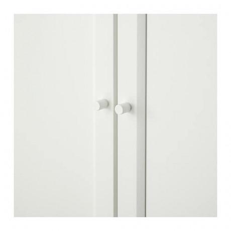 Стеллаж/панельные/стеклянные двери БИЛЛИ / ОКСБЕРГ белый фото 6