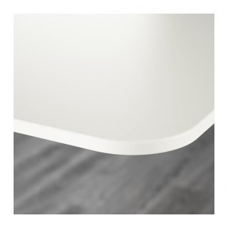 Стол с экраном БЕКАНТ белый фото 6